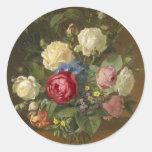 vintage floral etiquetas redondas