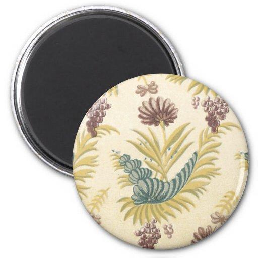 Vintage Floral Fabric (131) Magnet