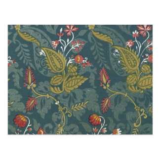 Vintage Floral Fabric (90) Postcard