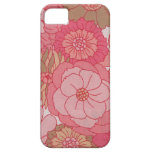 Vintage floral fabric iphone 5 cases