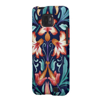 Vintage Floral Fabric Lily Pattern 1 Android Case Samsung Galaxy S2 Cases