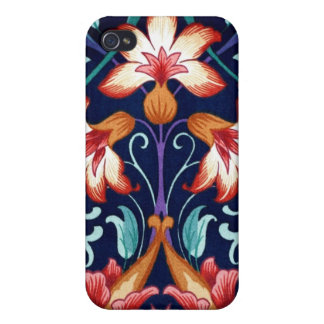 Vintage Floral Fabric Lily Pattern 1 iPhone 4 Case