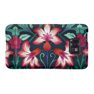 Vintage Floral Fabric Lily Pattern 2 Android Case Galaxy SII Cases