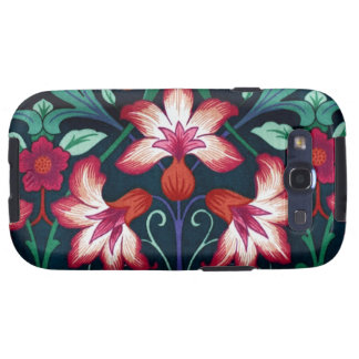 Vintage Floral Fabric Lily Pattern 2 Android Case Galaxy S3 Cases
