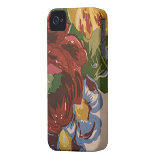 Vintage Floral Fabric Pattern iPhone Case iPhone 4 Case