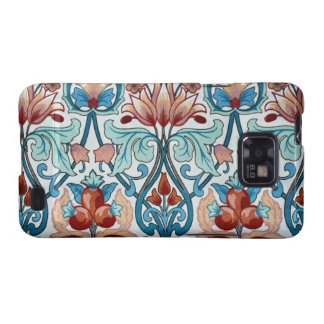 Vintage Floral Fabric Poppy Pattern Android Case Galaxy SII Cases