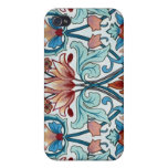 Vintage Floral Fabric Poppy Pattern iPhone 4 Case