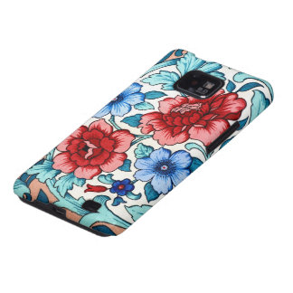 Vintage Floral Fabric Rose Pattern Android Case Galaxy SII Cases