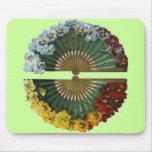 Vintage Floral Fans Mouse Pad