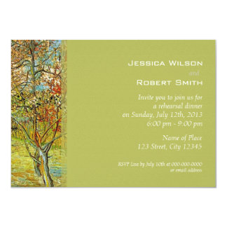 Vintage floral fine art rehearsal dinner 4.5x6.25 paper invitation card