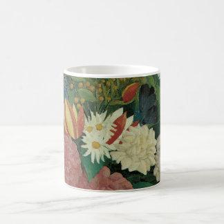 Vintage floral, flores con la hiedra de Henri Taza Básica Blanca