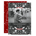 Vintage Floral Flourish Photo Holiday Greetings Card