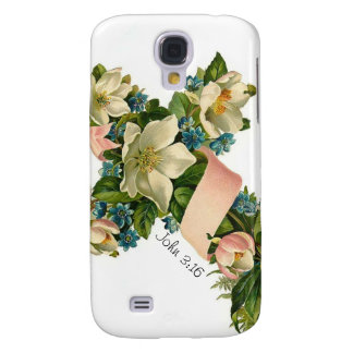 Vintage Floral Flower Cross - HTC Samsung Galaxy S4 Cases