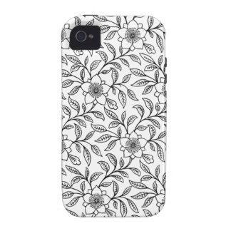 Vintage Floral Flowers Case iPhone 4/4S Case