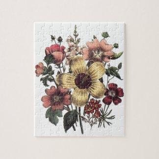Vintage Floral Flowers Puzzle