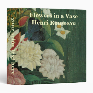 Vintage Floral, Flowers with Ivy by Henri Rousseau 3 Ring Binders