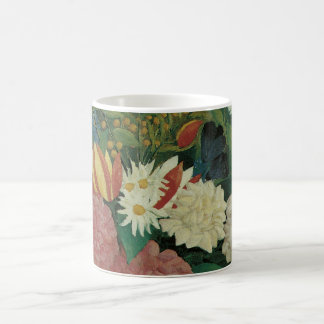 Vintage Floral, Flowers with Ivy by Henri Rousseau Classic White Coffee Mug