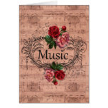 Vintage Floral For love of Music