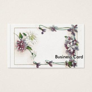Vintage Floral Frame Business Card