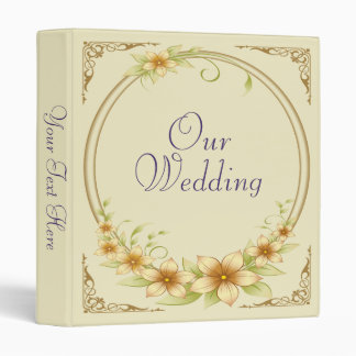 Vintage Floral Frame Wedding Photo Album Binder