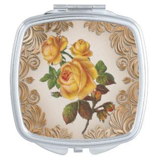 Vintage Floral fun compact miror Vanity Mirror