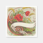 Vintage Floral fun paper napkins