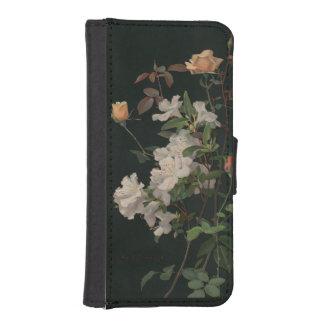Vintage floral funda billetera para teléfono