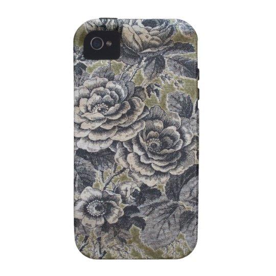 Vintage floral funda para iPhone 4/4S