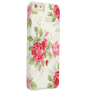 VINTAGE FLORAL FUNDA PARA iPhone 6 PLUS BARELY THERE