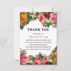 Vintage Floral Funeral Thank You Card