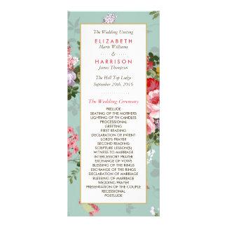 Vintage Floral Garden Botanical Wedding Program