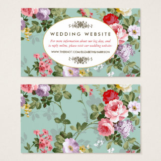 Garden Design Business Cards vintage floral website business cards & templates | zazzle