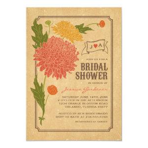 Vintage Floral Garden Party Bridal Shower Invite 5
