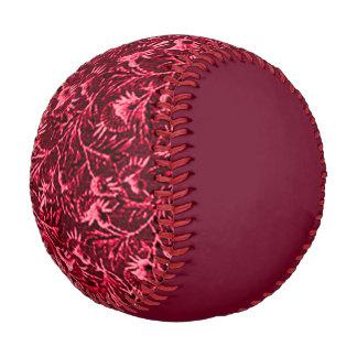 Vintage Floral Garnet Ruby Red Baseball