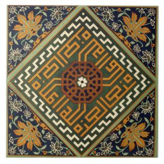 Vintage Floral Geometric Pattern Tile