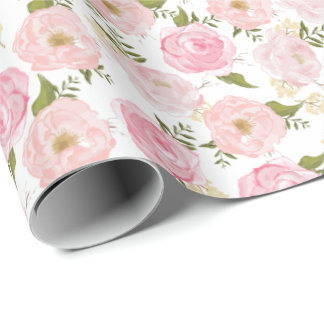 Vintage Floral Girly Flowers Wrapping Paper