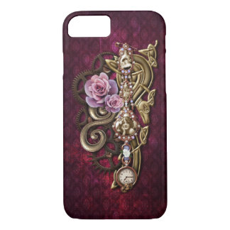 Vintage Floral Girly Steampunk iPhone 7 Case