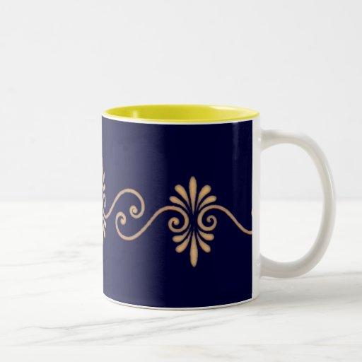 Vintage Floral Gold Pattern Element Design Coffee Mug