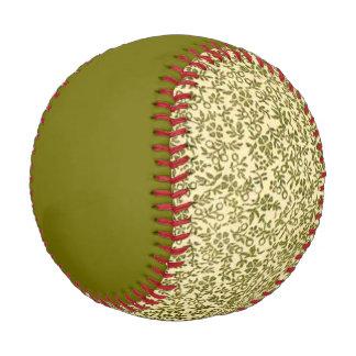 Vintage Floral Green Baseball