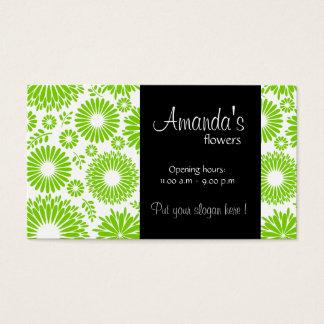 Vintage floral green Business Card