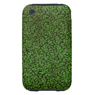 Vintage Floral Green Flowers iPhone 3 Tough Cover
