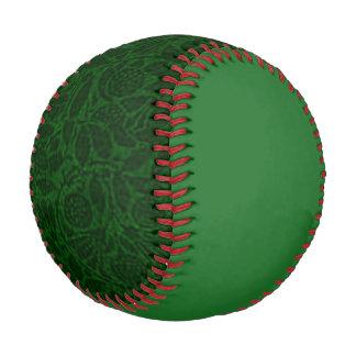 Vintage Floral Green Leaf Baseball