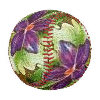 Vintage Floral Green Purple Violets Flowers Baseball