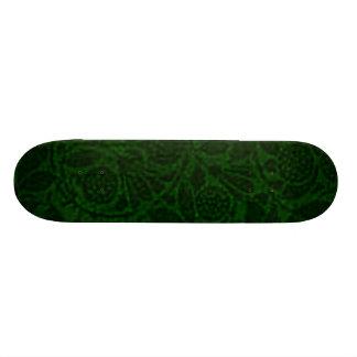 Vintage Floral Green Skateboard
