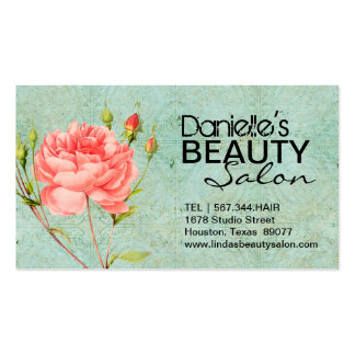 VINTAGE FLORAL HAIR SALON AND SPA BUSINESS CARD