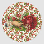 Vintage Floral Hand Stickers