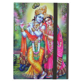 Vintage floral hermoso Krishna Radha