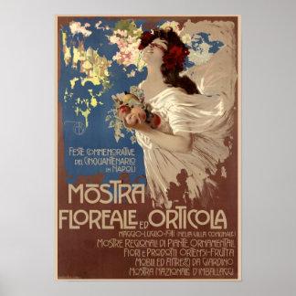 Vintage Floral & Horticultural Show Advertisement Poster