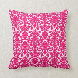Vintage Floral Hot Pink Damask Seal Pillow