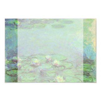 Vintage Floral Impressionism, Waterlilies by Monet 3.5x5 Paper Invitation Card